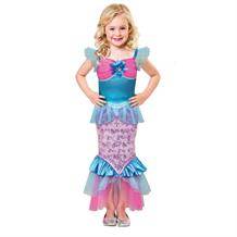 Mermaid Sparkle Girls Fancy Dress Up Costume