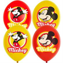 Mickey Mouse Red and Yellow Party Latex Balloons
