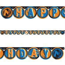 Nerf Party Happy Birthday Banner Decoration