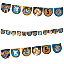 Nerf Party Flag Banner Bunting Decoration