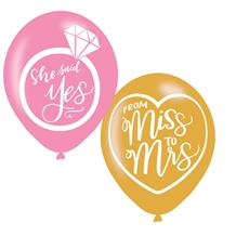 Mint to Be Hen Party & Engagement Latex Balloons