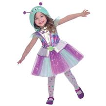 Girls Adorable Alien Dress Up Costume