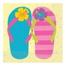 Just Chillin Flip Flop Party 33cm Napkins | Serviettes