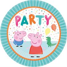 Peppa Pig Rainbow 23cm Party Paper Plates