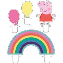 Peppa Pig Rainbow Party Cake Candles