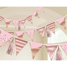 Rose Gold Blush Party Flag Banner | Bunting | Decoration