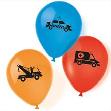 "Road Vehicle 11"" Helium Quality Latex Balloons"