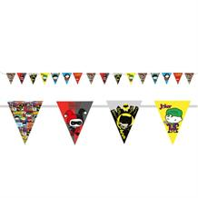 Justice League Cartoon Party Flag Banner | Bunting Decoration 3.3m