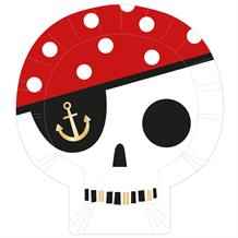 Pirate Skull Party Shaped 26cm Plates