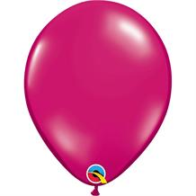 "Magenta Pink Transparent Jewel 11"" Qualatex Helium Quality Decorator Latex Party Balloons"