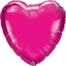 Hot Pink | Magenta Giant Heart Foil | Helium Balloon