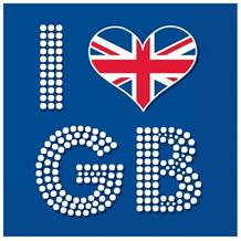 Union Jack I Heart GB Party Napkins | Serviettes