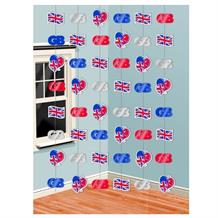 Union Jack | Great Britain Party Hanging String Decorations