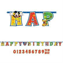 Mickey Mouse Add Age Happy Birthday Banner | Decoration