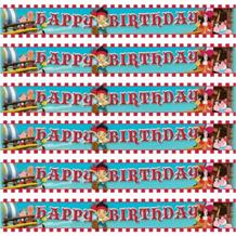 Jake Neverland Pirates Happy Birthday Foil Banner | Decoration