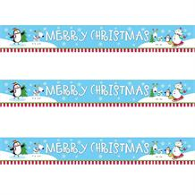 Joyful Snowman Merry Christmas Foil Banner | Decoration