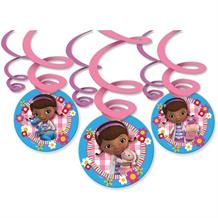 Doc McStuffins Party Hanging Swirl Decorations