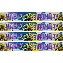 Teenage Mutant Ninja Turtles Happy Birthday Foil Banner | Decoration