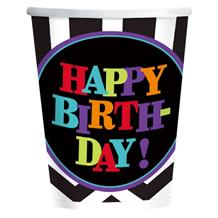 Chevron Happy Birthday Party Cups