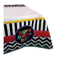 Chevron Happy Birthday Party Tablecover | Tablecloth