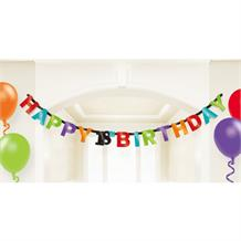 Chevron 18th Happy Birthday Letter Banner | Decoration