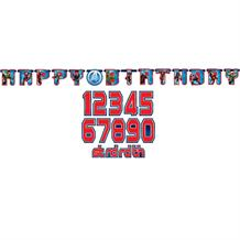 Marvel Avengers Add Age Happy Birthday Banner | Decoration
