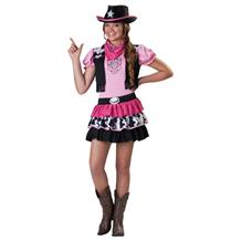 Pink Cowgirl Girls Fancy Dress Up Costume