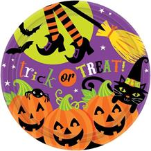 Witches Crew Halloween Party 23cm Plates