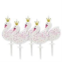 Swan Shaped Birthday Party Cake Candles