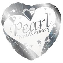 Pearl Wedding 30th Anniversary Party Foil | Helium Party Balloon