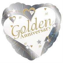 Golden Wedding 50th Anniversary Party Foil | Helium Party Balloon
