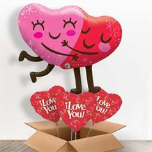 "Hugging Hearts Valentine's 36"" Giant Balloon in a Box Gift"