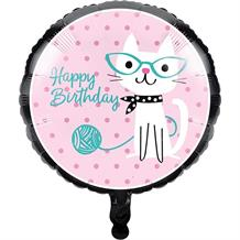 Purrfect Cat Party Foil | Helium Party Balloon