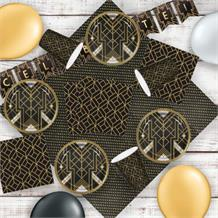 1920's Roaring Twenties 8 to 48 Guest Premium Party Pack - Tableware | Balloons | Decoration