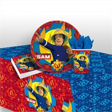 Fireman Sam 2017 Party 8 to 48 Guest Starter Party Pack - Tablecover | Cups | Plates | Napkins