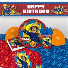 Fireman Sam 2017 8 to 48 Guest Premium Party Pack - Tableware | Balloons | Decoration