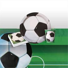 3D Soccer | Football 8 to 48 Guest Starter Party Pack - Tablecover | Cups | Plates | Napkins