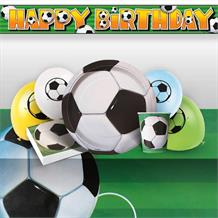 3D Soccer | Football 8 to 48 Guest Premium Party Pack - Tableware | Balloons | Decoration