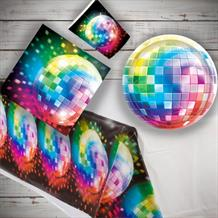 1970s Disco Fever 8 to 48 Guest Starter Party Pack - Tablecover | Cups | Plates | Napkins