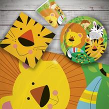 Animal Jungle 8 to 48 Guest Starter Party Pack - Tablecover | Cups | Plates | Napkins