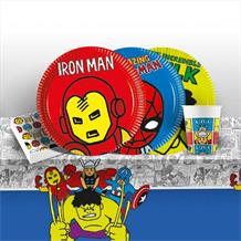 Marvel Avengers Pop Art 8 to 48 Guest Starter Party Pack - Tablecover | Cups | Plates | Napkins