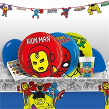 Marvel Avengers Pop Art 8 to 48 Guest Premium Party Pack - Tableware | Balloons | Decoration