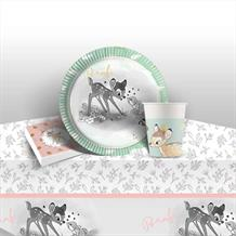 Bambi Cute 8 to 48 Guest Starter Party Pack - Tablecover | Cups | Plates | Napkins
