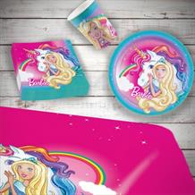 Barbie Dreamtopia 8 to 48 Guest Starter Party Pack - Tablecover | Cups | Plates | Napkins