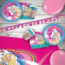 Barbie Dreamtopia 8 to 48 Guest Premium Party Pack - Tableware | Balloons | Decoration
