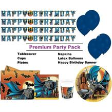 Batman Gotham Premium Party Pack - Tableware | Balloons | Decoration