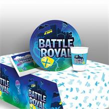 Battle Royal | Gaming 8 to 48 Guest Starter Party Pack - Tablecover | Cups | Plates | Napkins