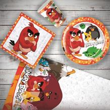 Angry Birds Movie 8 to 48 Guest Starter Party Pack - Tablecover | Cups | Plates | Napkins