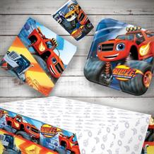 Blaze and The Monster Machines 8 to 48 Guest Starter Party Pack - Tablecover | Cups | Plates | Napkins