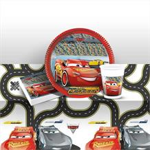Cars 3 8 to 48 Guest Starter Party Pack - Tablecover | Cups | Plates | Napkins